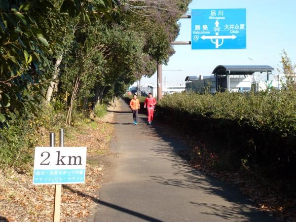 品川・大井スポーツの森大会 2km地点の画像