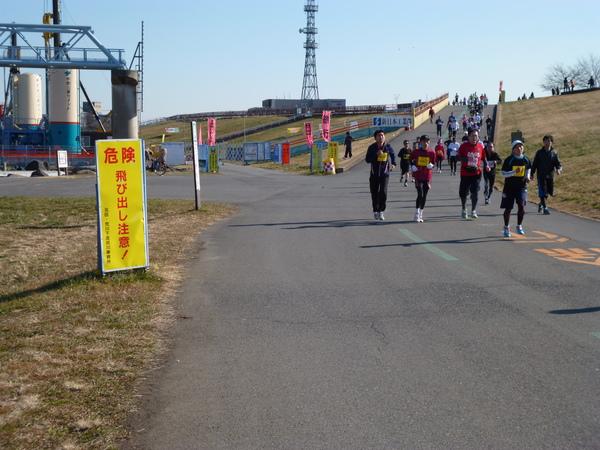 谷川真理ハーフマラソン Bコース 最初の上り坂