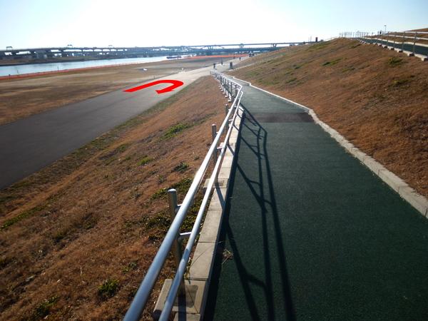谷川真理ハーフマラソン Bコース 折り返し