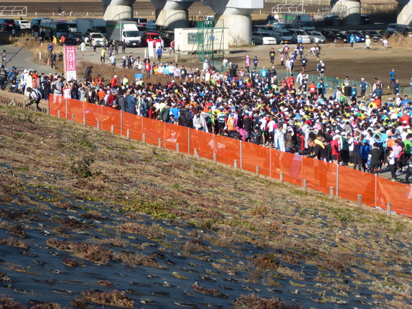 第16回 谷川真理ハーフマラソン Aコース スタート地点 第1ウェーブ