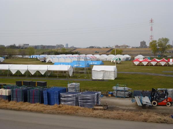 2015板橋Cityマラソン会場設営風景(その1)
