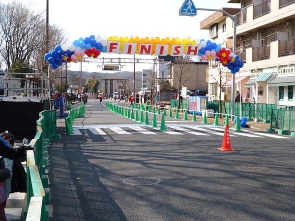 第49回 青梅マラソン フィニッシュ地点