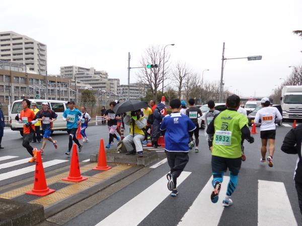立川シティハーフマラソン2015 折り返し(南)