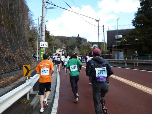 第50回 青梅マラソン 21km地点