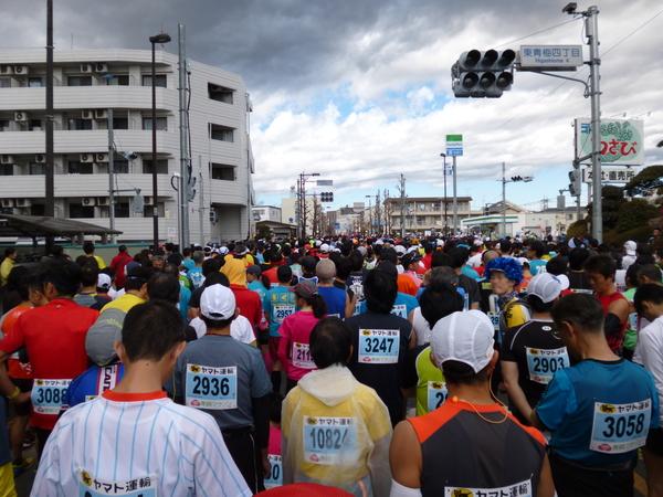 第50回 青梅マラソン スタート前の様子