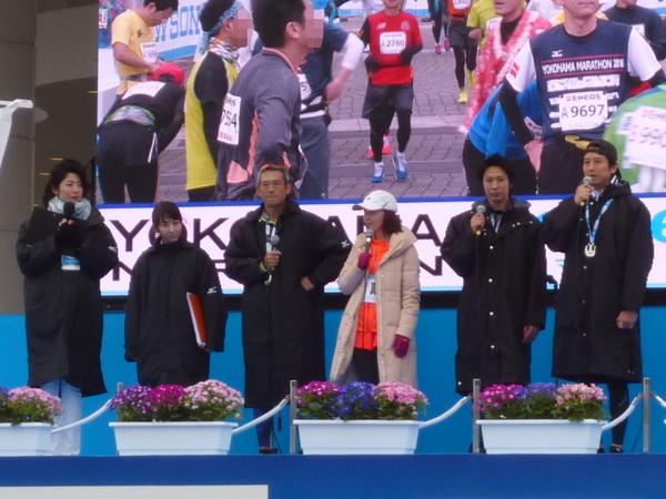 横浜マラソン2016 フィニッシュ地点のステージ