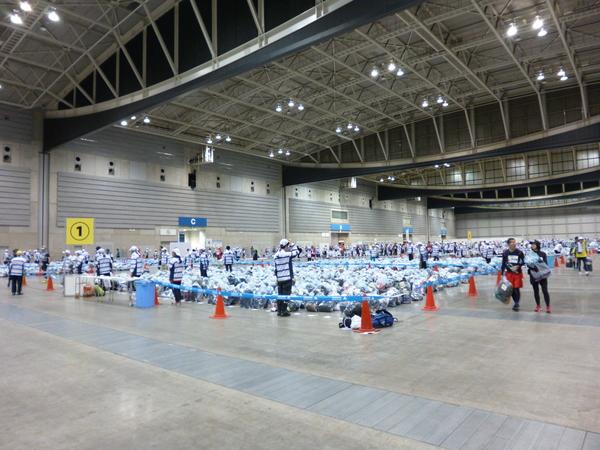 横浜マラソン2016 パシフィコ横浜 荷物預かり