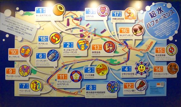 横浜マラソン2016 給水パフォーマンス パネル