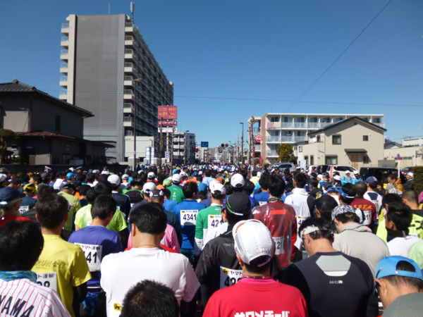 第51回青梅マラソン スタート前の様子