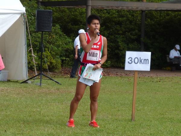 立川マラソン2017 M高史、司会の様子