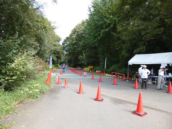 立川マラソン2017 スタート地点