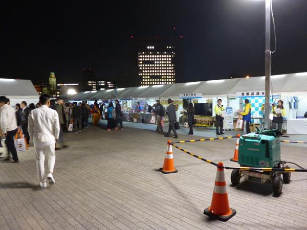 横浜マラソン2017 EXPO 公式スポンサー・サポーターゾーン入り口
