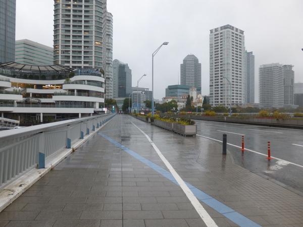 横浜マラソン2017 中止当時のスタート地点