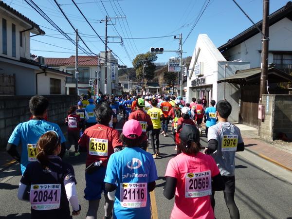 第52回青梅マラソン、2.8km付近