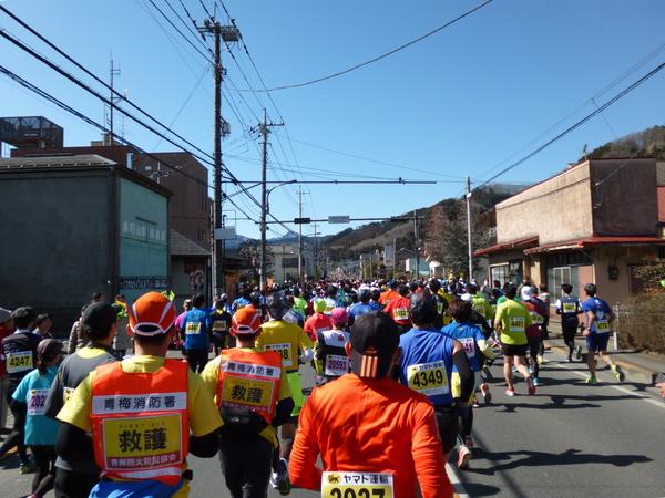 第52回青梅マラソン、3.1km付近