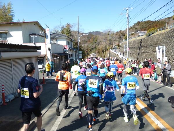 第52回青梅マラソン、7.9km付近