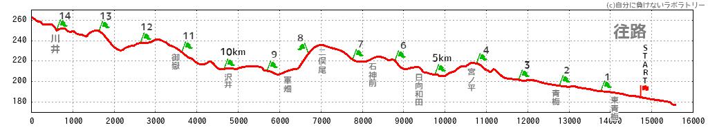 青梅マラソン 標高 往路